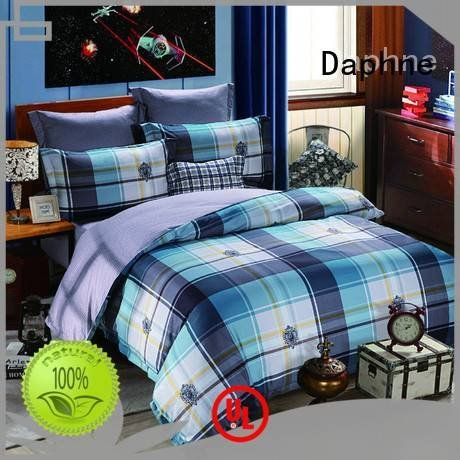 Daphne Brand set plaid Cotton Bedding Sets bedroom duvet