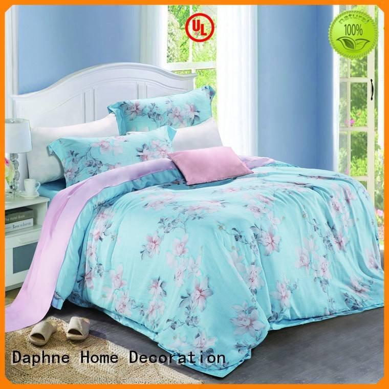 Custom organic comforter bed peach paisley Daphne