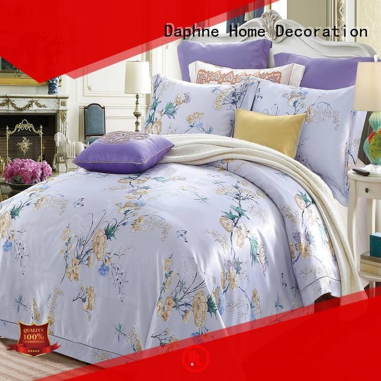 cotton bedding style jacquard duvet cover king Daphne