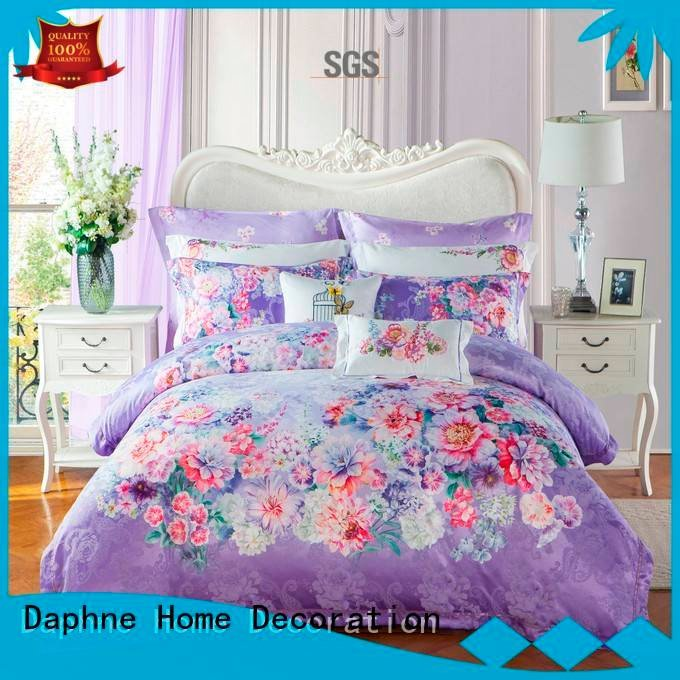 Custom rayon Jacquard Bedding Set flat jacquard duvet cover king