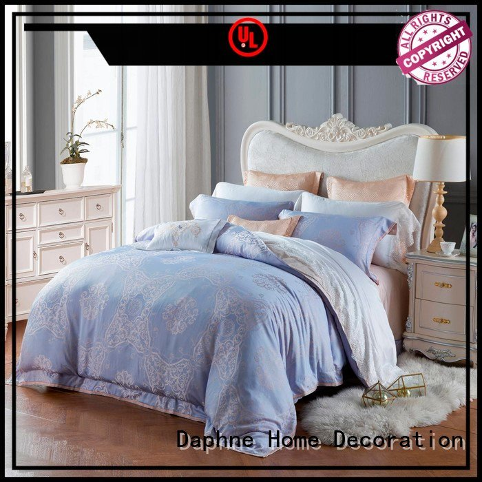 Hot jacquard duvet cover king mixed Jacquard Bedding Set vividly Daphne